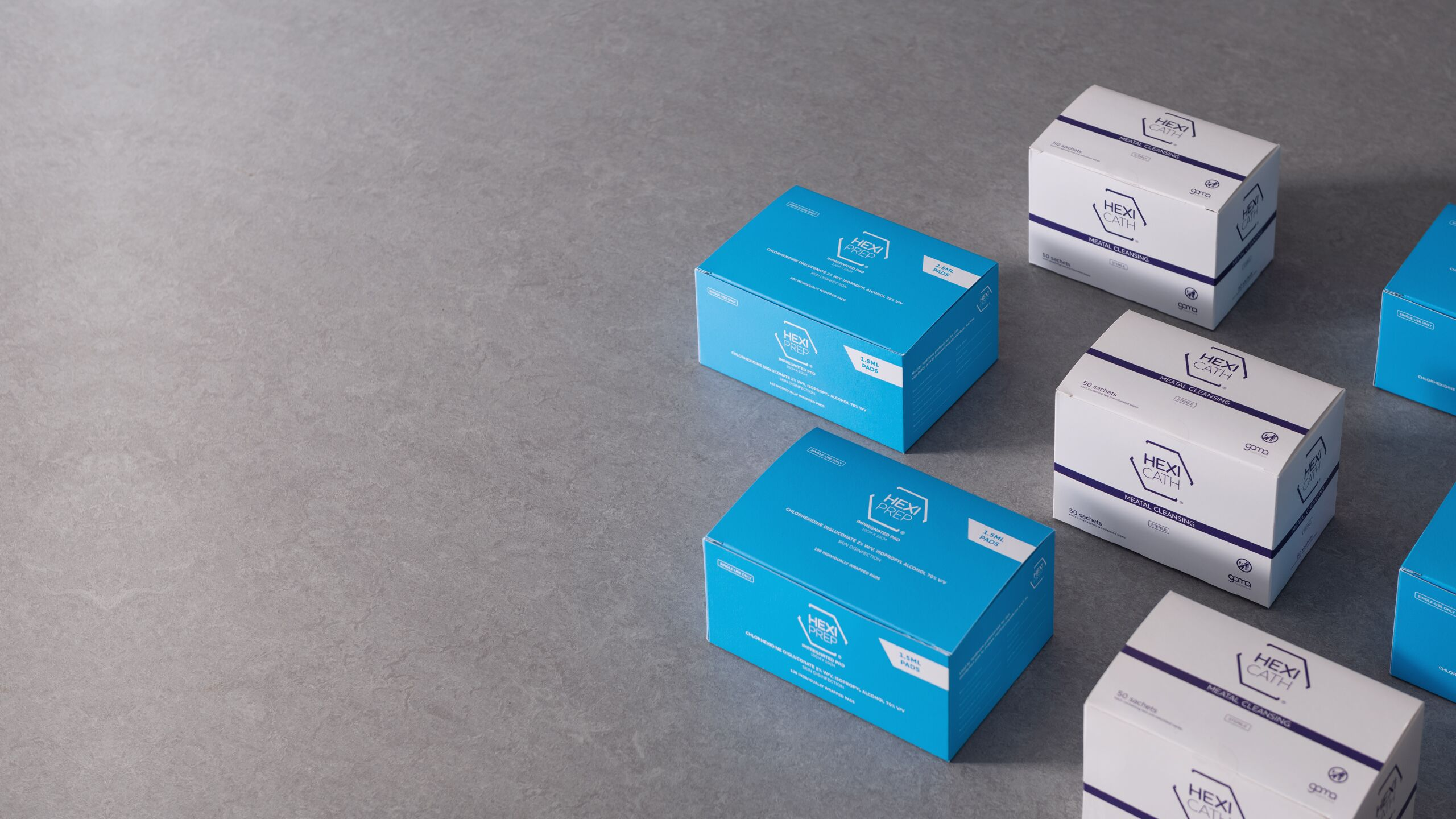 Boxes of HEXI PREP and HEXI CATH